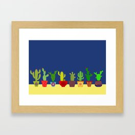 Cactus in blue Framed Art Print