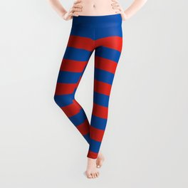 Haiti Paris flag stripes Leggings