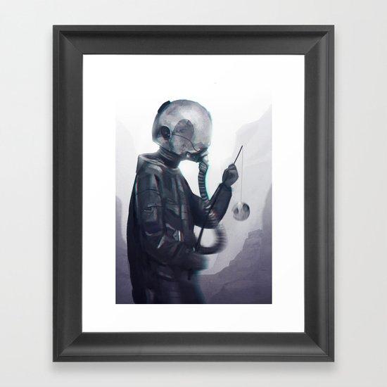 Catching the moon Framed Art Print