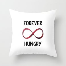 Forever Hungry - Infinity Throw Pillow