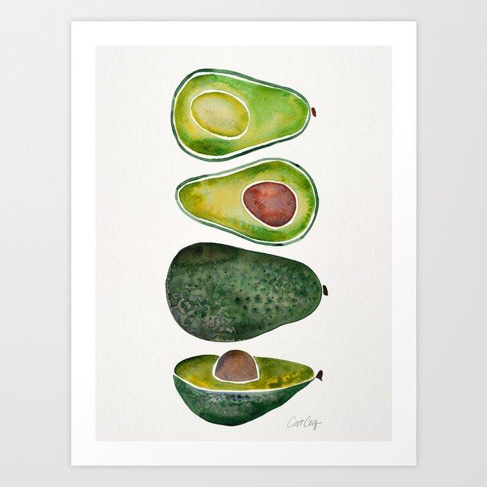 Avocado Slices Kunstdrucke