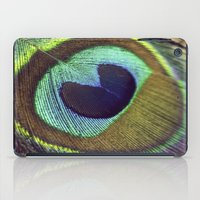 peacock feather iPad Cases featuring peacock feather by AnnaGo