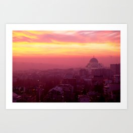 Belgrade Sunset Art Print