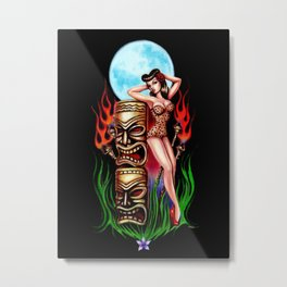 Tiki Moon Metal Print