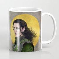 loki Mugs featuring Loki by Slugette