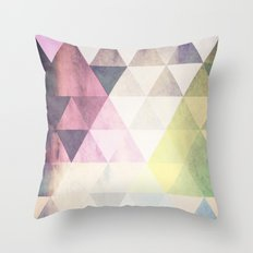 Geometric Groove Throw Pillow