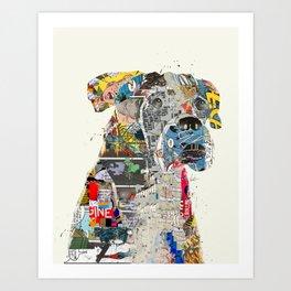 the mod boxer Art Print