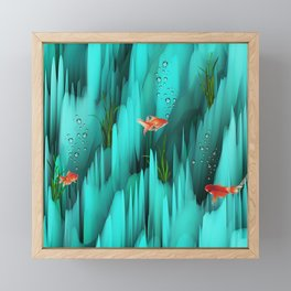 Golden Fishes Framed Mini Art Print
