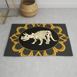 Triceratops Fossile Cameo Rug