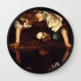 """Michelangelo Merisi da Caravaggio """"Narcissus"""" Wall Clock"""