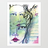 jane davenport Art Prints featuring Fridalicious by Jane Davenport by Jane Davenport