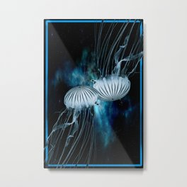 space jellyfish Metal Print