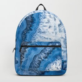 Crystal Pillar Blue Agate 3193 Backpack