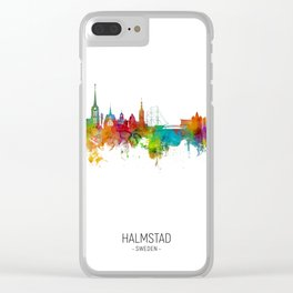 Halmstad Sweden Skyline Clear iPhone Case