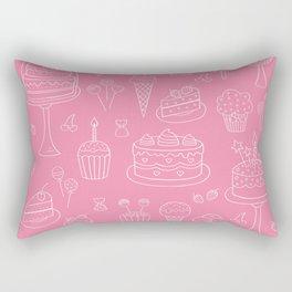 Pink Dessert Rectangular Pillow