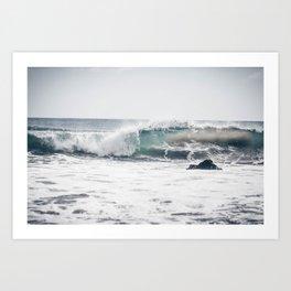 Malibu, mint, SoCal, beach photography, Los Angeles, beach, seaside, California, surf, California p Art Print