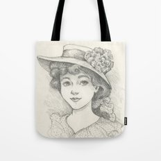 Sketch of an Edwardian Lady Tote Bag
