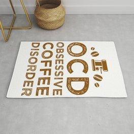 Obsessive Coffee Disorder Rug