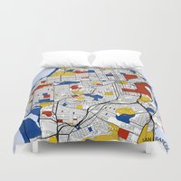 san francisco map Duvet Covers featuring San Francisco by Mondrian Maps