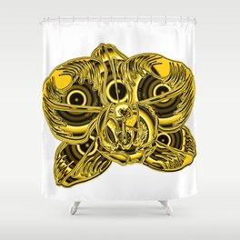 """Gold"" Orchid Flower Special Edition 2 (Clear Back) Shower Curtain"