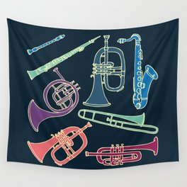 Wind instruments Wall Tapestry