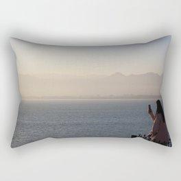 Through the screen / Antalya, Turkey Rectangular Pillow