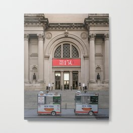 NY Met Museum Hot Dog Stand Metal Print