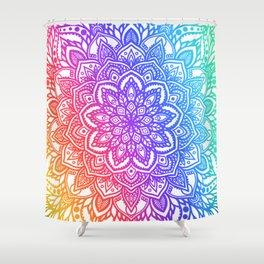 Multi Mandala - Rainbow Ombre Shower Curtain