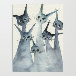 Ashland Whimsical Cats Poster