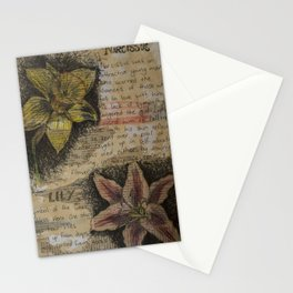 Daffodil collage Stationery Cards