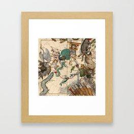 Constellation Chart 1693f Framed Art Print