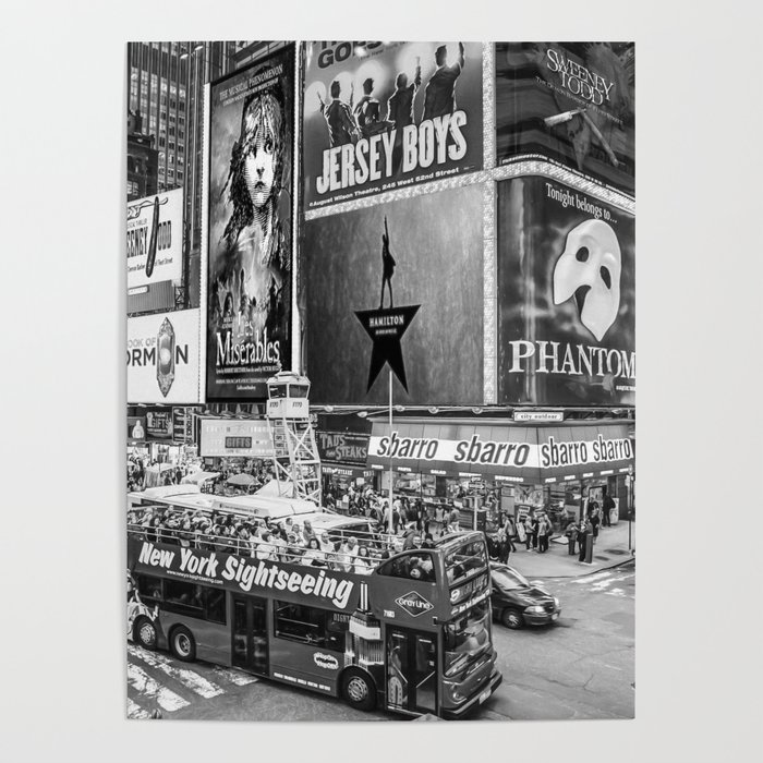 Times Square II (B&W widescreen) Poster