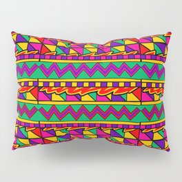 Latin American Pattern. Zigzag Squares Triangle Patterns. Colourful Pattern. Latin America. Funky Pillow Sham