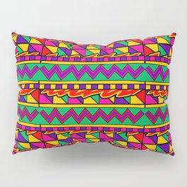 Latin American Pattern. Zigzag Squares Triangle Patterns. Colourful Pattern. Latin America. Funky Pillow Sham