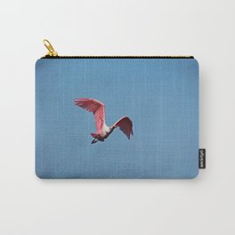 Roseate Spoonbill in Flight VI Carry-All Pouch