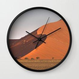 The red sand dunes of Sossusvlei desert, Namibia Wall Clock