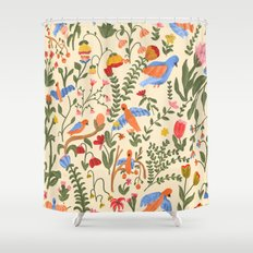 Tropical Garden Pattern Shower Curtain