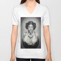 princess leia V-neck T-shirts featuring Star Wars Princess Leia by Alexandra Bastien