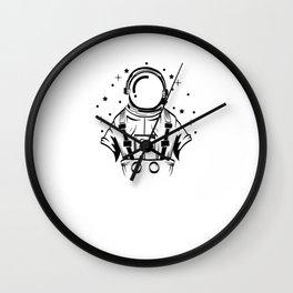 Are You A Fan Of Astronomy? An Astronaut Dreamer? Here's An Antronaut Inside A Bulb T-shirt Ideas Wall Clock