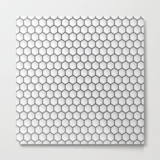 Design Hexagon Metal Print