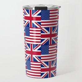 Mix of flag: Usa and uk Travel Mug