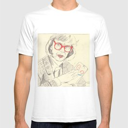 log lady with plank T-shirt
