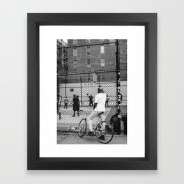 New York Basketball Framed Art Print