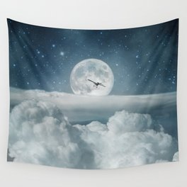 Fly Me to the Moon Wall Tapestry