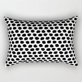 Beehive Black and White Rectangular Pillow