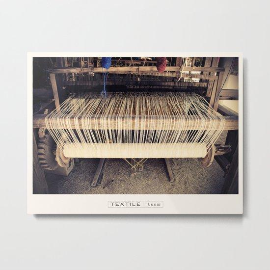 Textile Series - Loom Metal Print