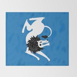 Dancing Beasts: Lion Throw Blanket