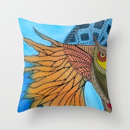 Annunciation of Kame Throw Pillow