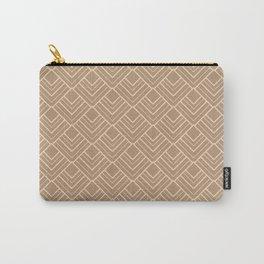 Paris Elegance - Cream Beige Geometry Carry-All Pouch
