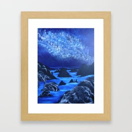 Seas and stars Framed Art Print